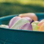 Picture of water balloons in a tub