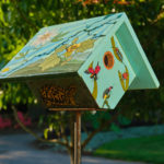 Picture of a painted birdhouse