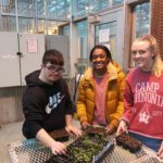 Students participating in the Horticultural Therapy Program